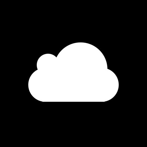 cloud, media, social, square icon