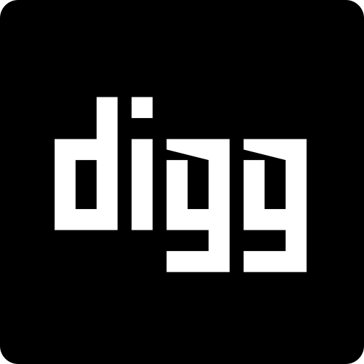 digg, media, social, square icon