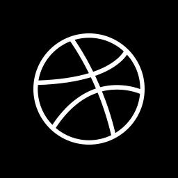 dribbble, media, social, square icon