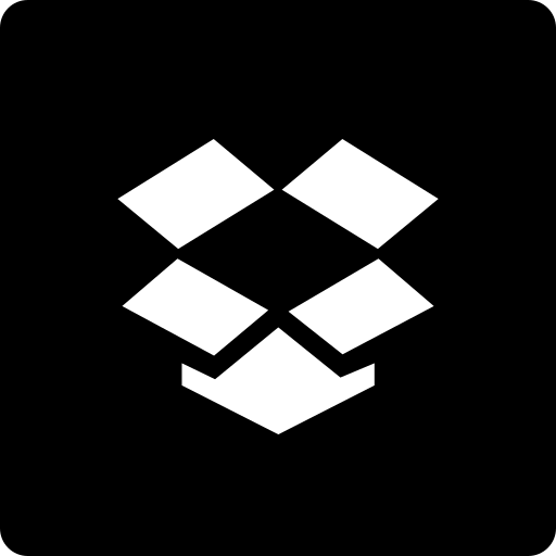 dropbox, media, social, square icon