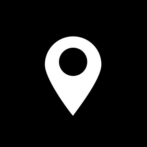 location, media, social, square icon
