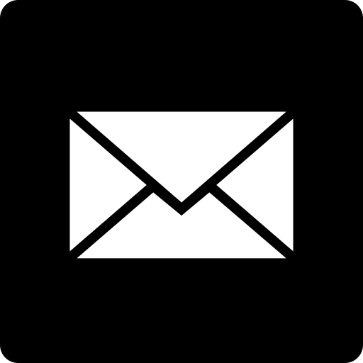 mail, media, social, square icon