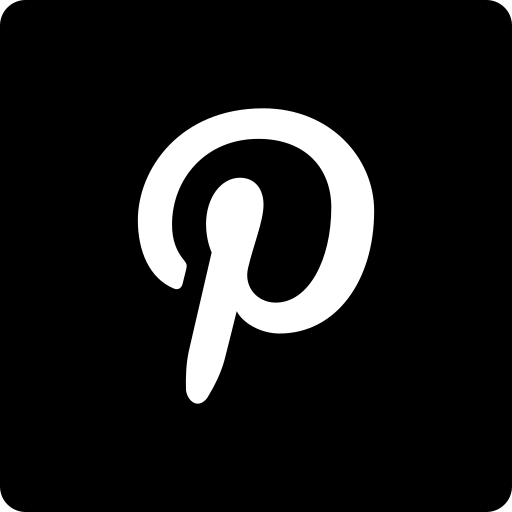 media, pinterest, social, square icon