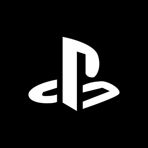 media, playstation, social, square icon