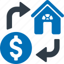 home, loan, building, property icon
