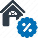 home, loan, property, interest rate icon