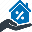 home, loan, interest rate, property, building icon