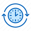 clock, repeating, round, time icon