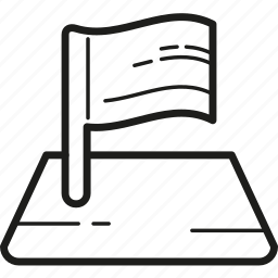 area, flag, navigation icon
