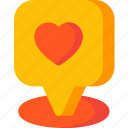 like, location, love, map, navigation, pin, place icon