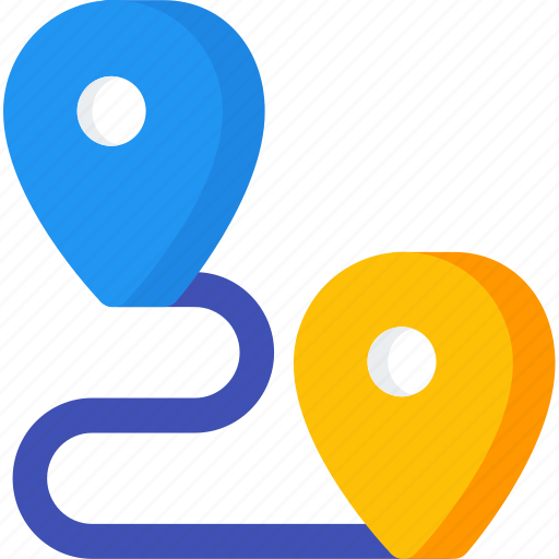 Distance, location, map, navigation, pin, place icon - Download on Iconfinder