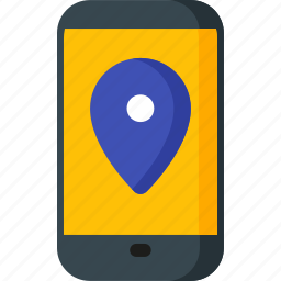 app, direction, location, map, navigation, pin, place icon