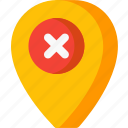 place, remove, delete, location, map, navigation, pin
