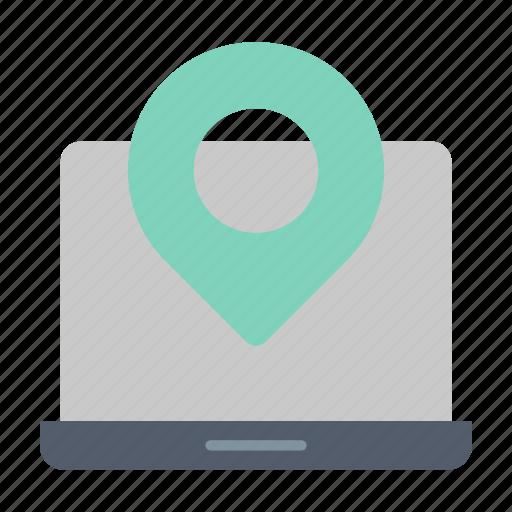 gps, location, marker, online icon