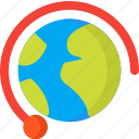 globe, location, map, navigation, pin, place, worldwide icon