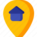home, location, map, navigation, pin, place icon