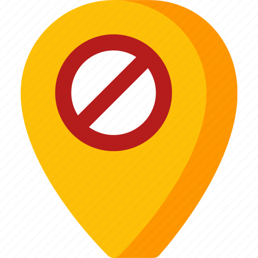 location, map, navigation, no, pin, place icon