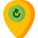 location, map, navigation, pin, place, refresh icon