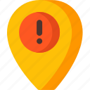 error, location, map, navigation, pin, place icon