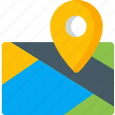 location, map, navigation, pin, place icon