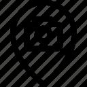 camera, map, photo, picture, pin icon