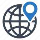 global, gps, location icon