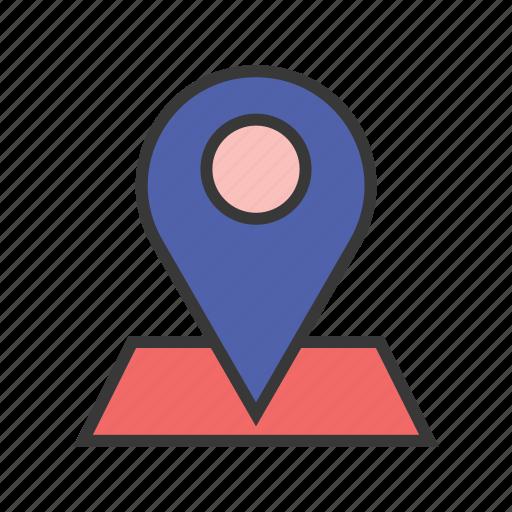 address, gps, map, navigation pin, place icon