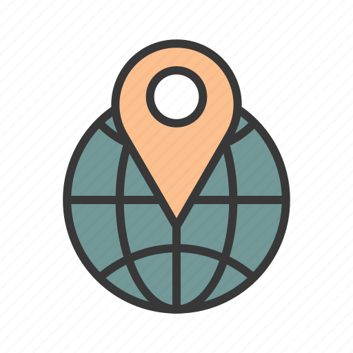 global position, location pin, pin location, places, route icon