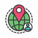global position, gps, location pin, person location, places icon