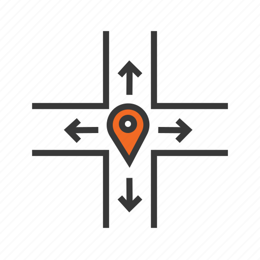 distance, navigation, path, pin location, route map icon