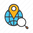 find location, locate address, map, search address, search location icon