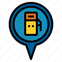 gas, location, pin icon