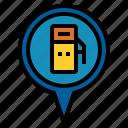gas, location, pin icon