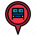 busstation, pin icon