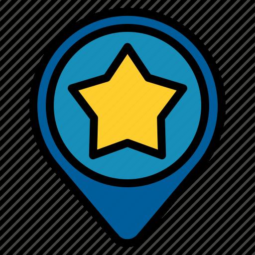 favorite, location, pin icon
