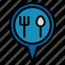 food, pin icon