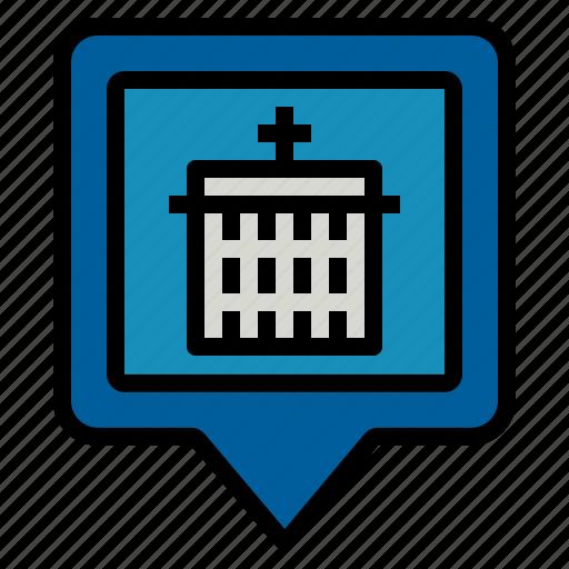 hospital, location icon