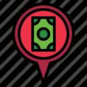 bank, pin icon
