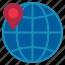 globe, location, map icon