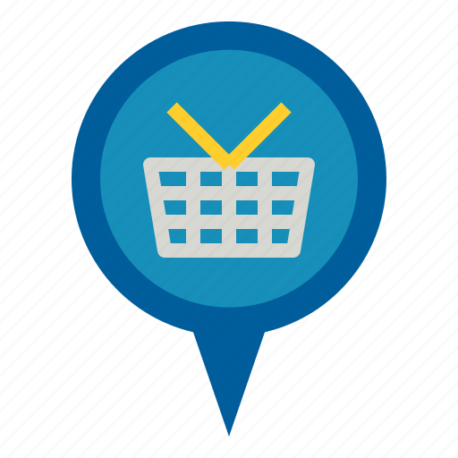 Marker, pin, shopping icon - Download on Iconfinder