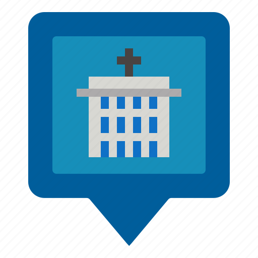 Hospital, marker, pin icon - Download on Iconfinder