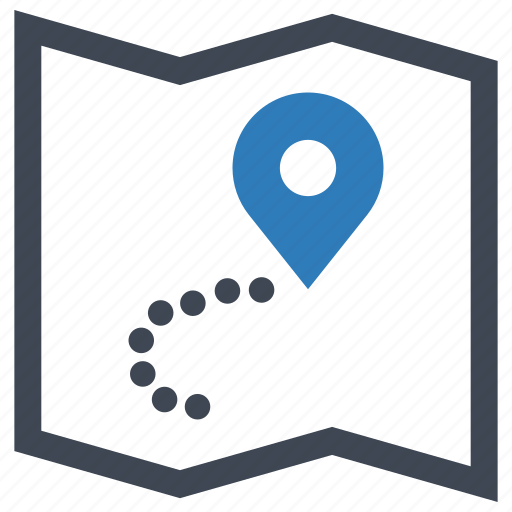 map, pin, pointer, position icon