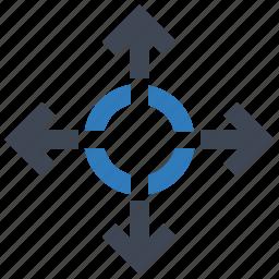 arrow, decision, direction icon