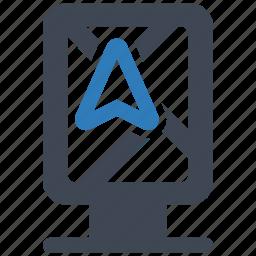 gps, navigation, pin icon