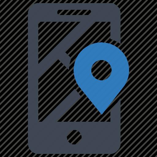 gps, location, phone icon