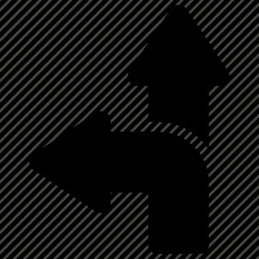arrow, direction, path icon