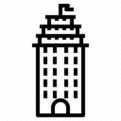 building, tower icon