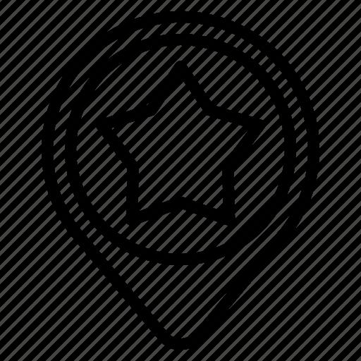 favorite, pin icon