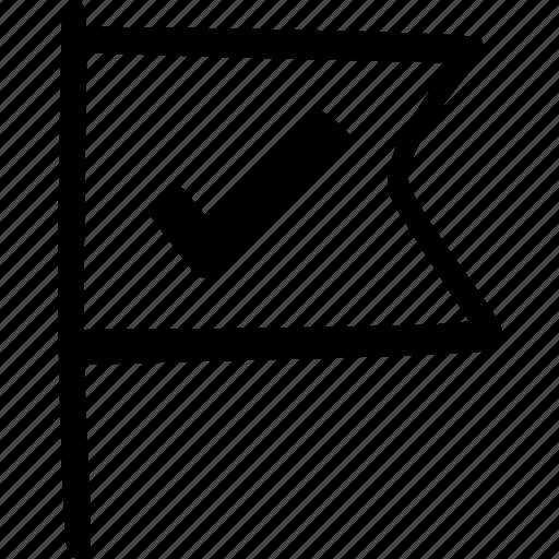 flag, location, miscellaneous, pin icon