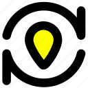 location, navigation, position, positioning icon